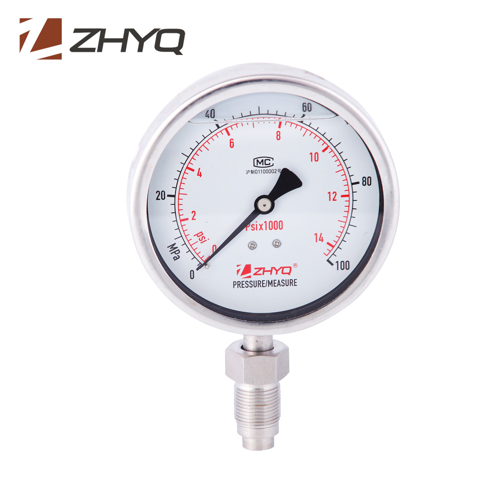 Bourdon Tube Homogenizer Stainless steel Pressure Gauge M20*1.5 100MPa 150MPa