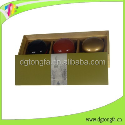 Luxury paper packaging box for wine bottle carrier