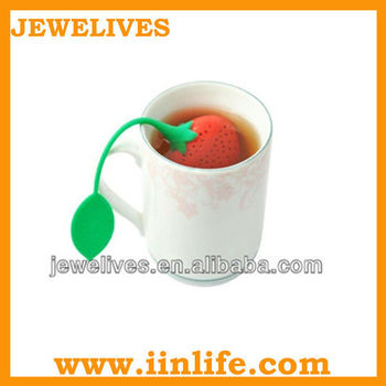 2013 innovaty cute flowerpot shaped silicone tea infuser with different color for tea