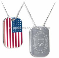 US flag tag dog tag for person