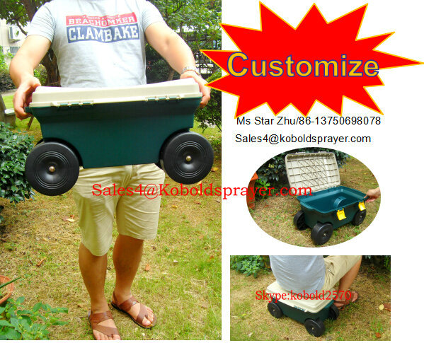 Rolling Garden tool carts with seat