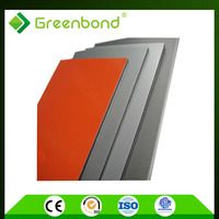 Greenbond superior quality chart roof acp wooden panel decoration with colorful surface