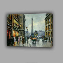 High quality canvas art handmade Paris street scenery oil painting