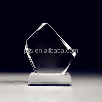 crystal plaque award with personal logo