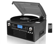 2017 vinyl record player classic turntable wood Hi Fi stereo system with CD recorder