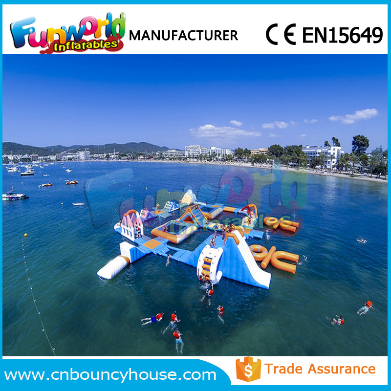 Fun kids water play aquq park inflatable water sport equipment