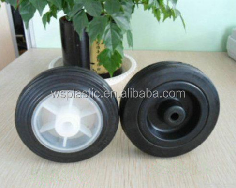custom polyurethane solid rubber toy wheels at low price