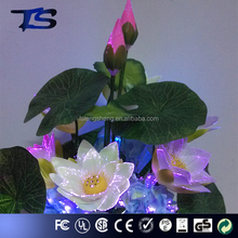 Bonsai decoration flower 3w LED BIG sparkling electric Fiber silk optic flowers/handicraft led flower lamp