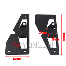 Stainless steel black light mount bracket led lamp bar support for jeep