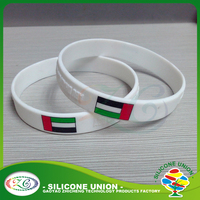 Embossed Wristbands Custom Rubber Silicone Bracelets Bangles