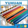 Colored PVC / PET Based Truck Vehicle Free Samples yellow reflective sheeting
