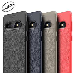 Factory Direct Supply Best Quality Mobile Phone Case TPU Litchi Leather Phone Case For Samsung Galaxy S10 cell phone case