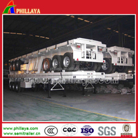 Widely Used 2/3/ axles 40-60tons 20ft/40ft Flatbed Container Trailer /flatbed lorry(4 axles available)