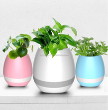 2017 New and Hot Selling Product LED Bluetooth Music Flower Pot with Speaker FlowerPot Factory Wholesale