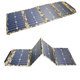 80W foldable mono solar panels folding solar charger solar folding bag customized