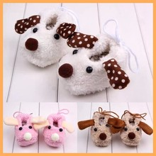 Wholesale fancy and cut dog cotton baby shoes