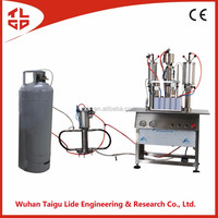 Semi-automatic Snow Spray Aerosol Filling Machine 2016