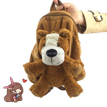 custom kids hanging toy bag lovely soft plush stuffed toy dog bag