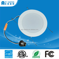 "USA Canada ul etl es 90Ra Recessed Retrofit led down light dimmable 6"" LED downlight"