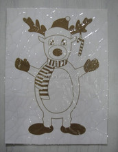 Home Decoration Snow Man Removable Static Cling Window Film Sticker