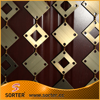 Aluminum panels link fabric drapery curtain exhibition wall covering