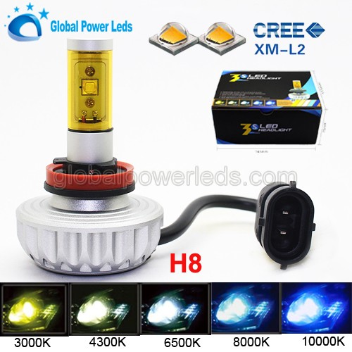 Kit 2200LM LED XENON White HID H8 Auto Conversion CREEs Chip Led Headlight