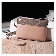 1CB0002 2017 New Arrival Fashion Trendy Women Pink PU Leather Shoulder Small Crossbody Bag