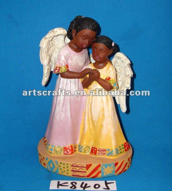 Polyresin black angel for Christmas decoration