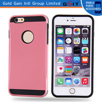 Waterproof Case for iPhone 6 Plus TPU+PC Case With Logo Hole