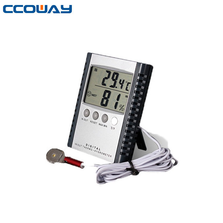 LCD Digital Temperature Humidity Meter Thermometer Indoor/ Outdoor Home Office