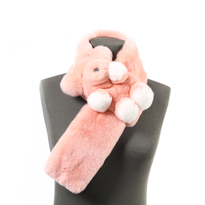 Chinese high quality cheap polyester scarves rabbit fake fur women beautiful scarf