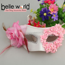 Hot Fashion Nice Flower goose feather mask for Party
