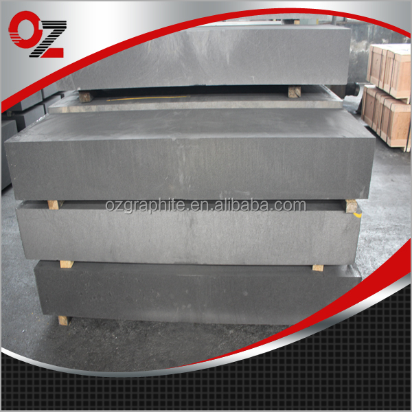 High strength vibrated graphite block and rod
