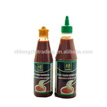 high quality halal chili sauce sriracha with plastic bottle packed