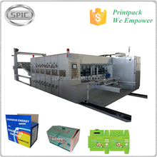 Full-auto corrugated carton flexo print machine with die-cutting and slotting