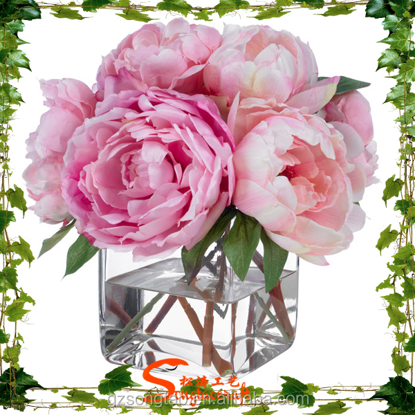 2015 China noble artificial flower peony for wedding decoration