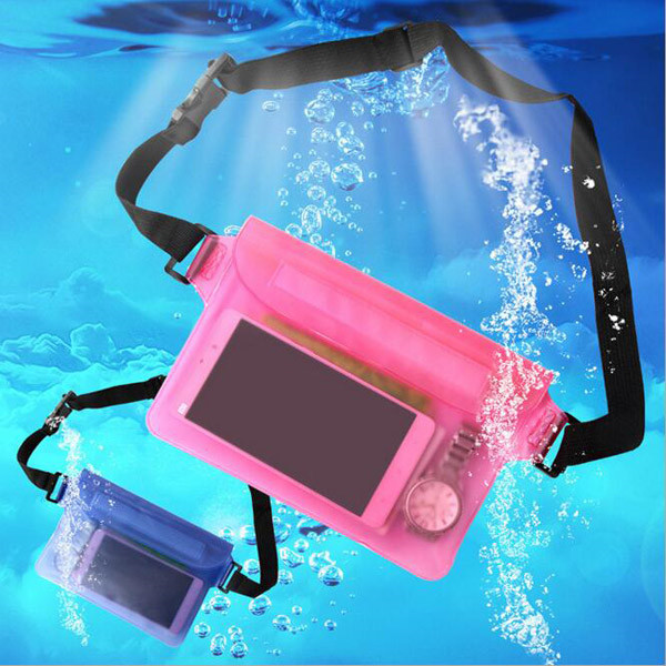 Durable Portable Swimming PVC Waterproof Bag For Mobile Phone, Waterproof Waist Bag Underwater Pouch For iPad Tablet Case