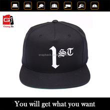 Design Your Own 100% Cotton Screen Print Logo Flat Visor Hat Black Wholesale Custom Cheap Snapback Caps