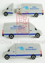 Ambulance car usb flash, Customized Van Truck pen drive, Van Car shape PVC usb flash drive