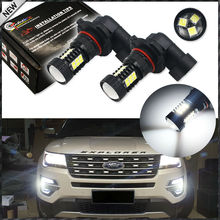 Super Bright 21-SMD 360-Degree Illumination H10 LED Bulbs For High Beam DRL Lights or Fog Lights