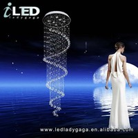 D1000*3500mm high quality Modern LED Home decoration Most popular luxury LED K9 Ceilling Big Hotel Villas Crystal Chandelier