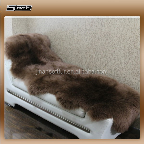 Chocolate Brown dyed Double Sheepskin rug