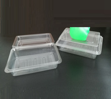 Plastic clear disposable hinged/ clamshell food packaging containers