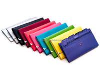 Factory price!Women multifunctional and mul color leather travel wallet ,travel purse