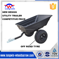 2 wheel strong box utility tipping trailer