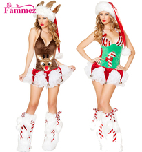 Fammez animal sexy movie with women christmas costumes for adults
