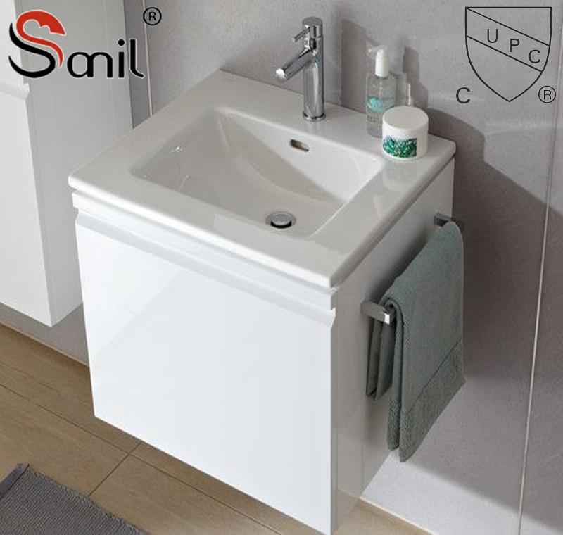 hot sale rectangular thin edge cabinet bathroom wash basin sink buy