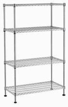 NSF & ISO Approved Chrome Plated 4-tier Commercial Wire Shelving