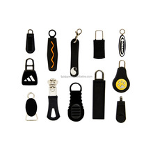 Hard/Soft Silicone Rubber Made Zipper Pull Charms, Rubber Zipper Pull