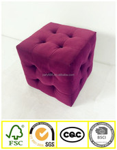 2016 Fancy Cube Ottoman, small comfortable Stool, fabric cube ottoman